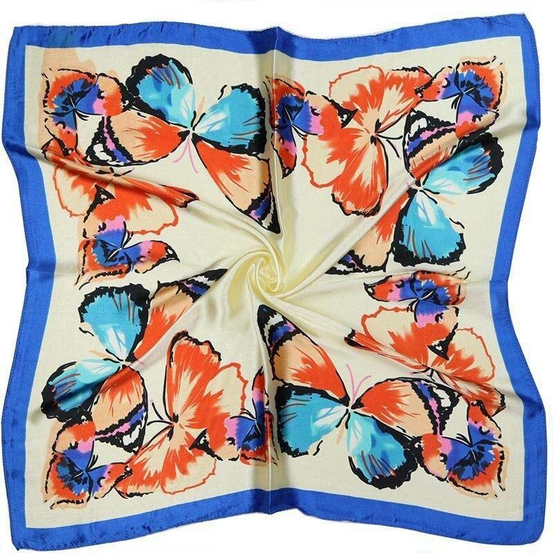 Red butterfly scarf