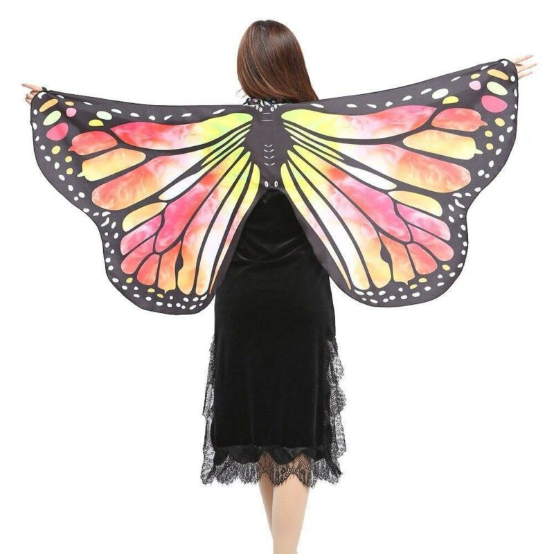 Yellow butterfly disguise girl