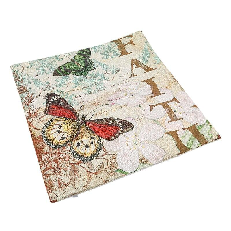 Faith Butterfly Pillow Case - Red