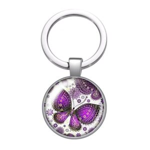 Butterfly pendant with flower ring