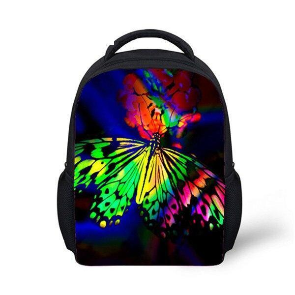 Multicolored butterfly backpack