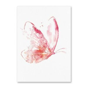Tableau butterfly red realistic