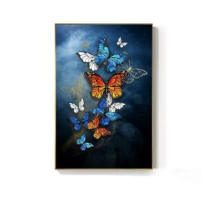 Multicolored butterfly painting
