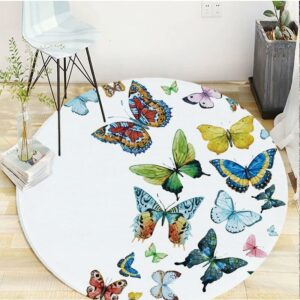 Multicolored butterfly carpet