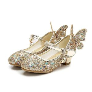 Butterfly sandals girl gold