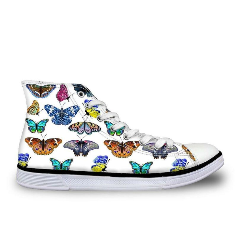 Multicolored butterfly shoes