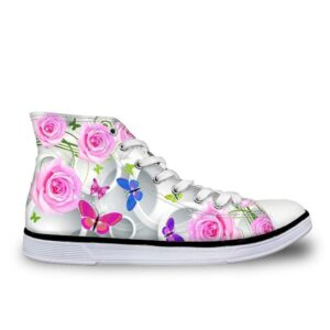 Floral butterfly shoes