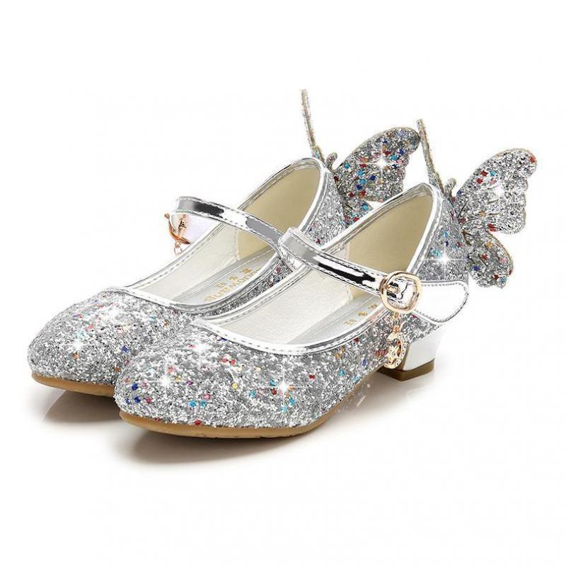 Butterfly sandals girl silver