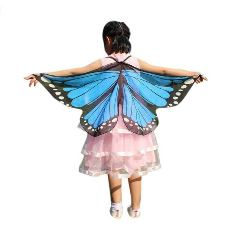 Blue butterfly girl costume