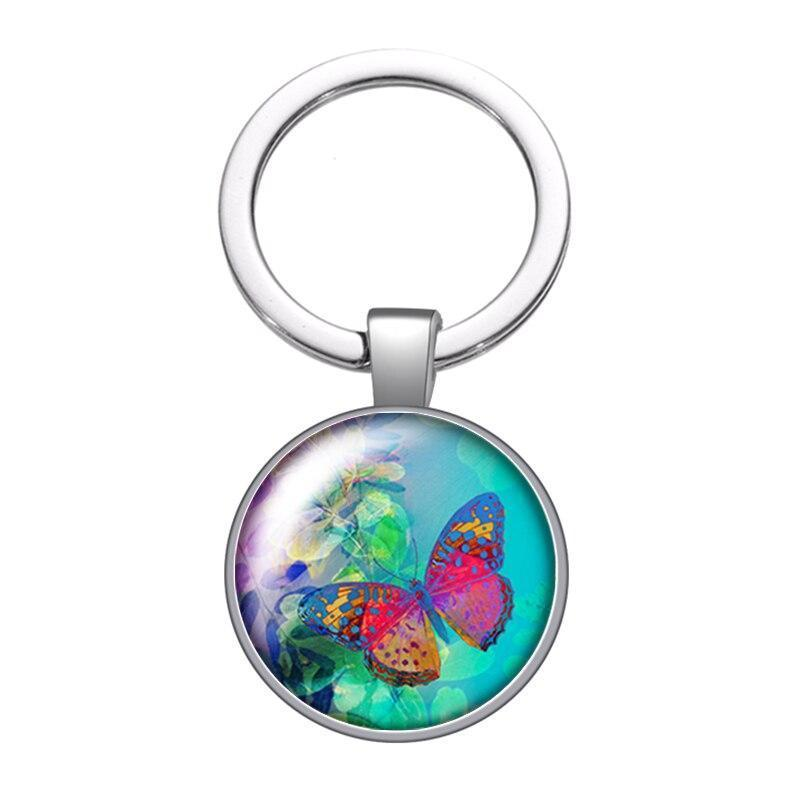 Butterfly pendant with ocean ring