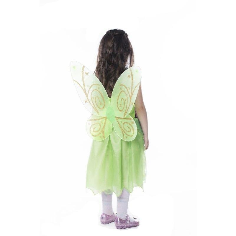 Butterfly disguise with green dress
