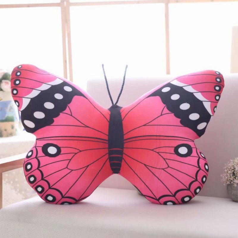Pink butterfly plush