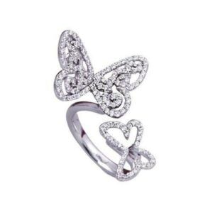butterfly-silver ring