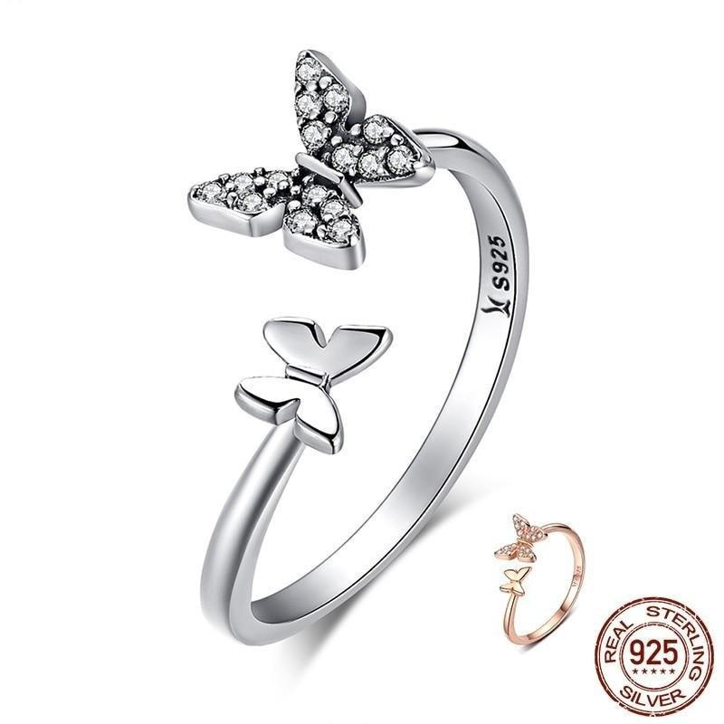 ring-butterfly-woman-silver-ring
