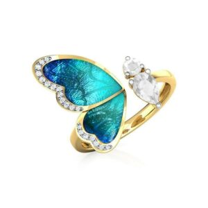 butterfly-ring-blue-adjustable