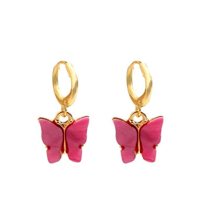 earrings-butterfly-color-red-woman