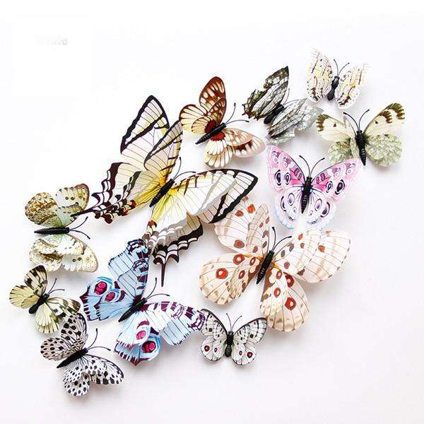 White 3D Butterfly Magnet Stickers - Butterfly Dream