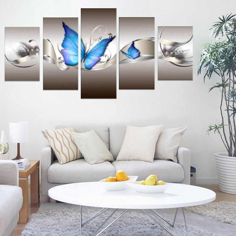 butterfly-blue paintings