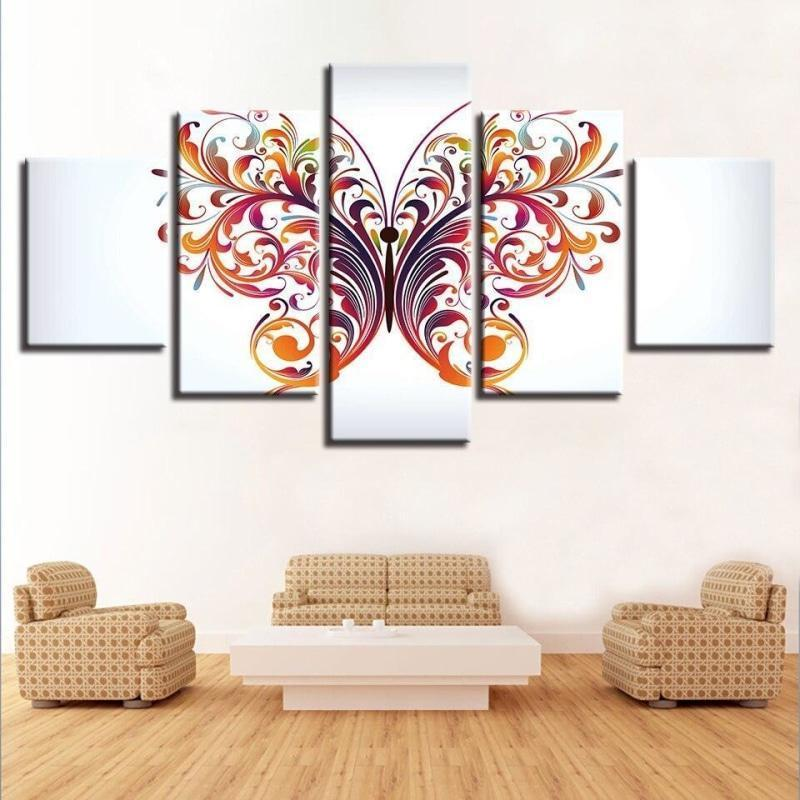butterfly-red-on-canvas