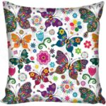 Butterfly Pillow Case and Flower and Mandala | Butterfly Dream